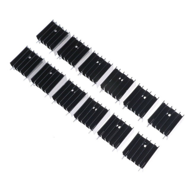 12 PCS Aluminum Heat Sink for TO220 L298N LJ