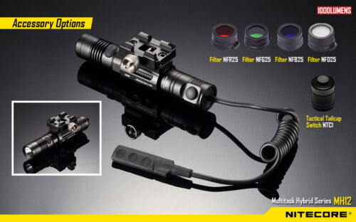 Nitecore MH12 Rechargeable Flashlight Car With FREE Battery /& Wall Adaptor
