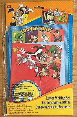Looney Tunes Warner Brothers Letter Set Writing Paper Stickers Bugs Bunny NEW