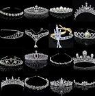 CH Bridal Wedding Crystal Flower Tiara Crown Pearl Rhinestone Hair Band Headband