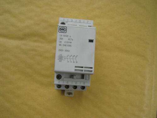 MK LN 6420s 20A 20 AMP 4 POLE 2 MODULE CONTACTOR