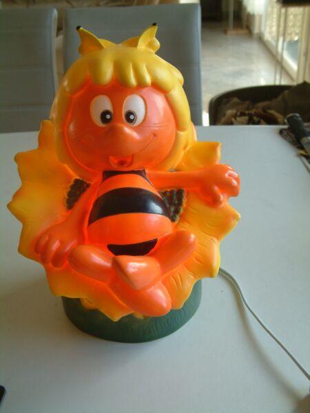 2019 Neuer Stil Biene Maya Lampe Tischlampe Nachtischlampe Kinderzimmerlampe Kult Märchen 1999 KöStlich Im Geschmack