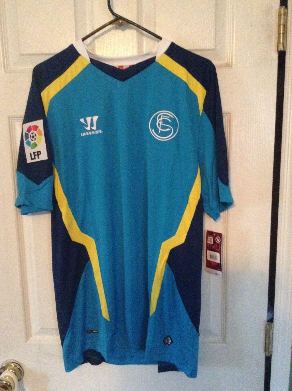 Vintage LOT Of 2 Sevilla F.C, España, camisetas de fútbol, hogar y lejos Nuevo con etiquetas, XL, Guerrero