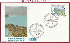 ITALIA FDC ROMA SALVAGUARDIA DELLA NATURA LAGO DI GARDA 1987 TORINO Z740