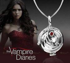 Popular Vampire Diaries Elena Gilbert Antique SILVER Locket Necklace Pendant