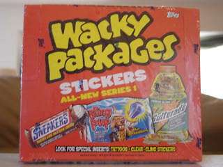 2004 ANS1 Rare Topps Wacky Packages Sealed box 24 pks!