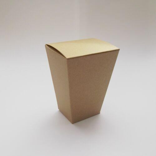 Brown Kraft Popcorn Style Wedding Favour Boxes Choose QTY Bridal Shower
