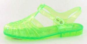 f024c4808fd2 Damenschuhe Ladies Spot on 90 s retro jelly buckle sandals F0714