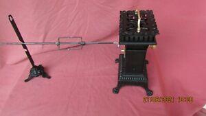 Ancien tournebroche mécanique à cage