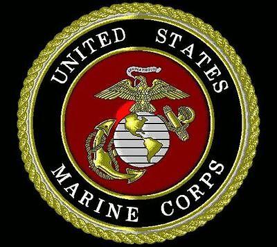 3x5 Black USMC Marines Marine Corps Emblem Flag 3/'x5/' Banner Grommets