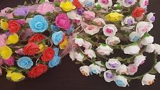 24pcs Handmade Floral Crown Rose Flower Headband Hair Garland Wedding Headpiece