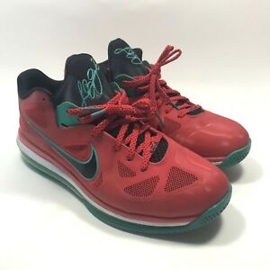 2e173cbe6d6 Nike Lebron 9 Low Size 13 Liverpool Action Red White Green 510811 ...