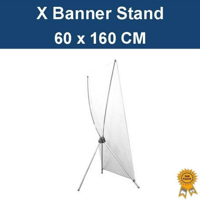 New X Banner Stand Shop Store Exhibition Sign Stand 60 x160cm