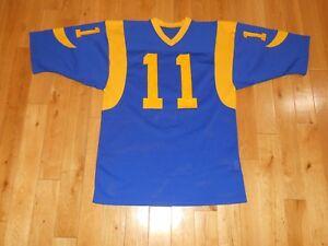 ac9f7037d Vintage 1980s Sand-Knit JIM EVERETT LOS ANGELES RAMS  11 Mens NFL ...