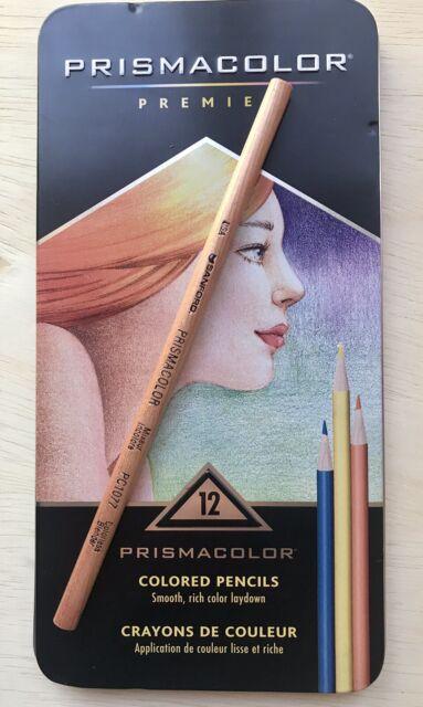 Prismacolor Premier Colored Pencil Set Of 12 + Colorless Blender Pencil. New.