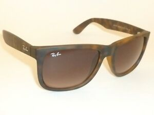ae7e91b9f5d Image is loading RAY-BAN-Justin-Sunglasses-Rubber-Havana-Brown-RB-