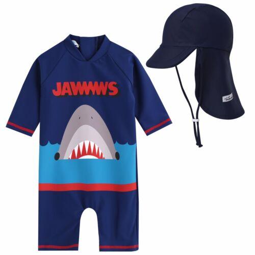 """Vaenait Baby Infant Boys UPF+50 Swimwear Bathing Suit /""""Baby Jaws King/"""" 6-24M"""