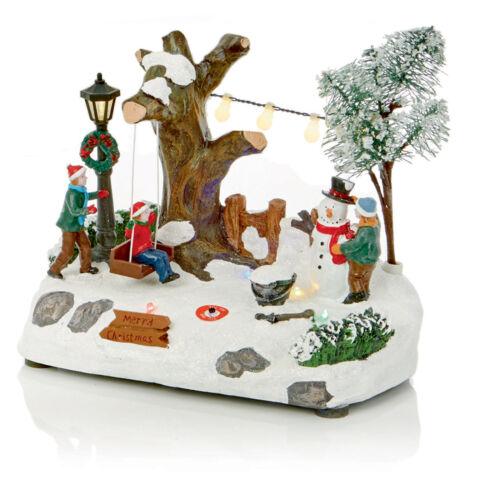 Noël 15 cm à batterie DEL Allumé Village Scene-Choisir Design