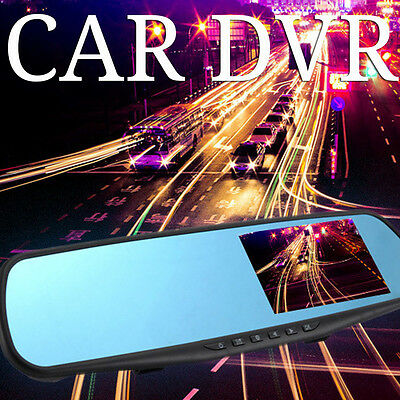 "HD 1080P Car DVR 2.8"" Video Recorder Dash Cam Rearview Mirror Camera Recorder UK"