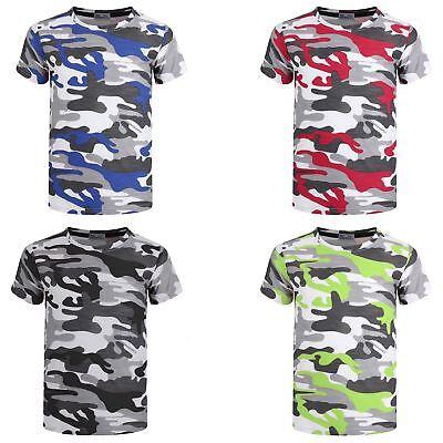 LOTMART Boys Jersey Shorts Camouflage Print Pattern