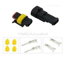 5 Kit Conector sellado 2 Pins Impermeable Eléctrico Cable Enchufe