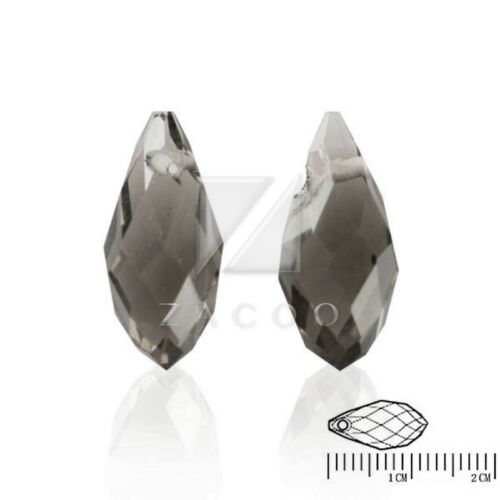 20pcs Crystal Beads Teardrop Top Drilled Spacer Jewelry Making 12mm 13mm IW