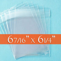 100 Cello Bags, 6 7/16 X 6 1/4 Inches, Self Adhesive Clear Packaging