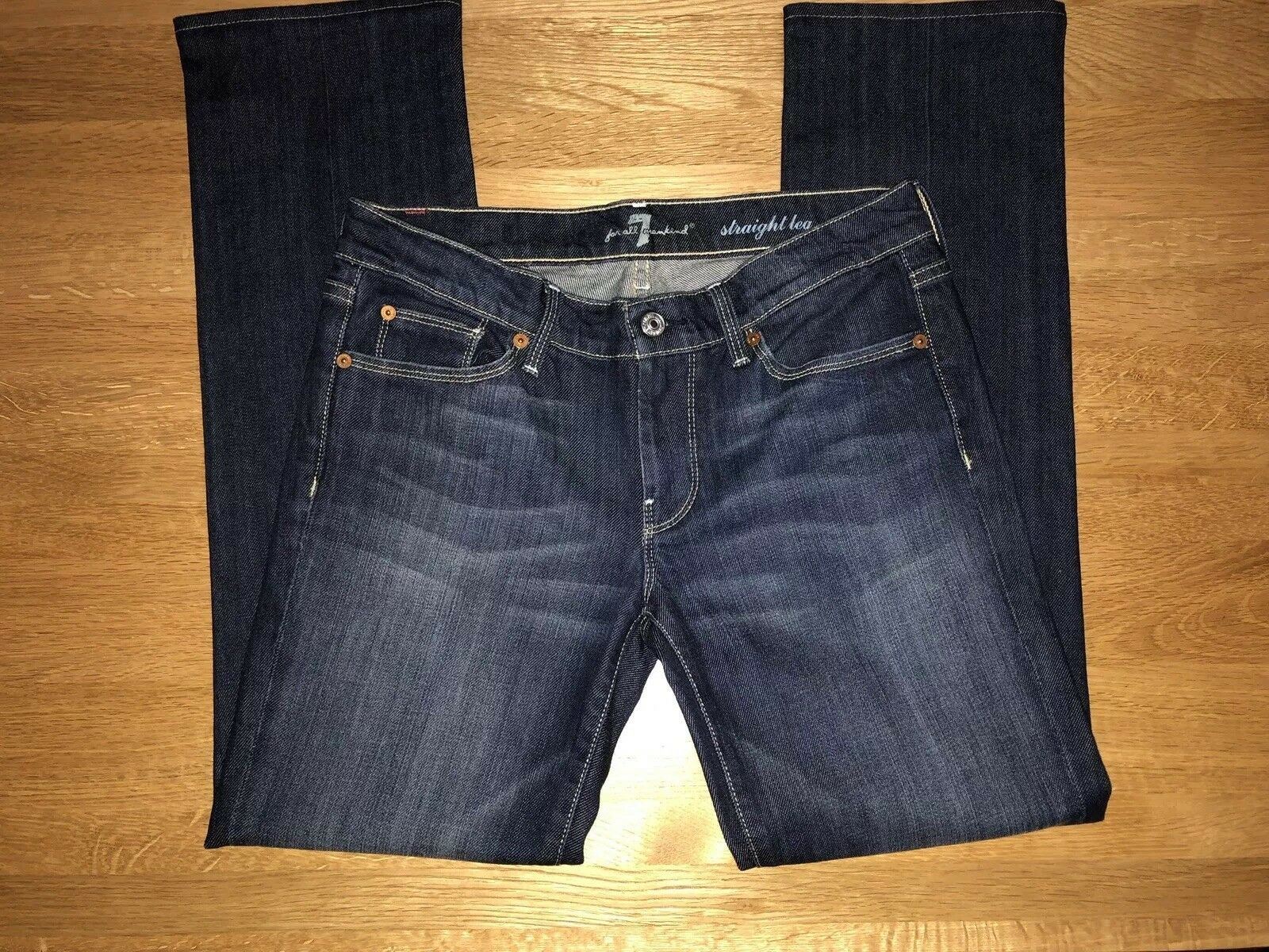 7 For All Mankind Women's Straight Leg Jeans Size-28 Worn Twice Great Condition