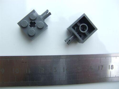 4211529 wheel holder Parts Snap /& Cross W size 2x2 2 x Lego grey Brick