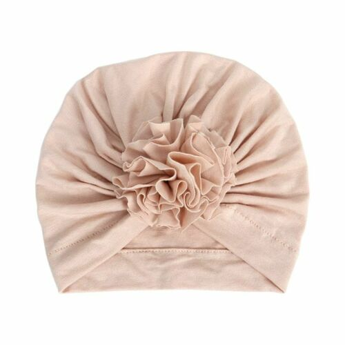 Infant Cap Accessory 1pc Flower Fitted New Baby Girl Hat Cotton Turban Beanie