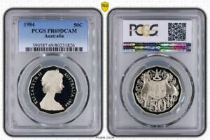 1984-AUSTRALIA-50-CENTS-PCGS-PR69DCAM-PROOF-COIN-ONLY-5-GRADED-HIGHER