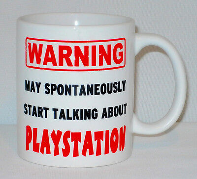 Warning May Start Talking About Playstation Mug Can Personalise Gamer Gaming PS