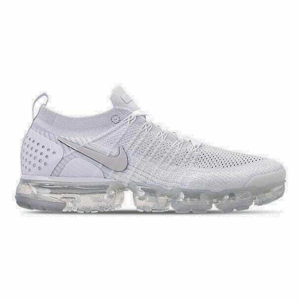 Men's Nike Air VaporMax Flyknit 2 White Vast Grey Football Grey 942842 105
