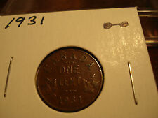 1931 Canada - 1 cent coin - Canadian penny - circulated