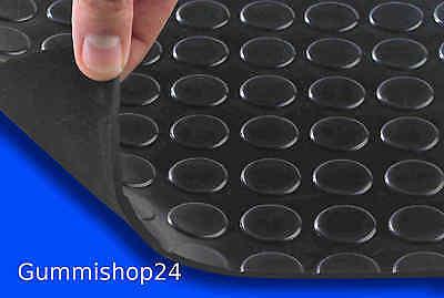 Gummimatte Bodenbelag Noppenmatte schwarz Dicke 4mm, 1.40m x 1,00m