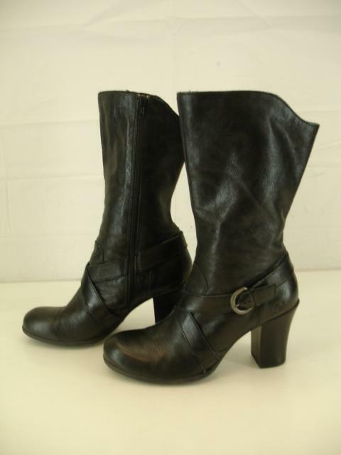 mujer Sz 9 botas De Cuero Negro M nacido Nuri Nuri Nuri Alto Cremallera Lateral arnés de montar a caballo occidental  mejor precio