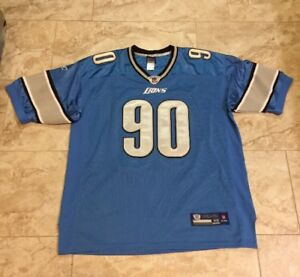 the latest e7f94 ab495 Details about Reebok NFL Ndamukong Suh Detroit Lions Authentic Jersey Size  52