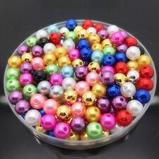 50pcs 12mm Mixed Colors Emoji Laugh Emoticons Acrylic Round Beads DIY Bracelet