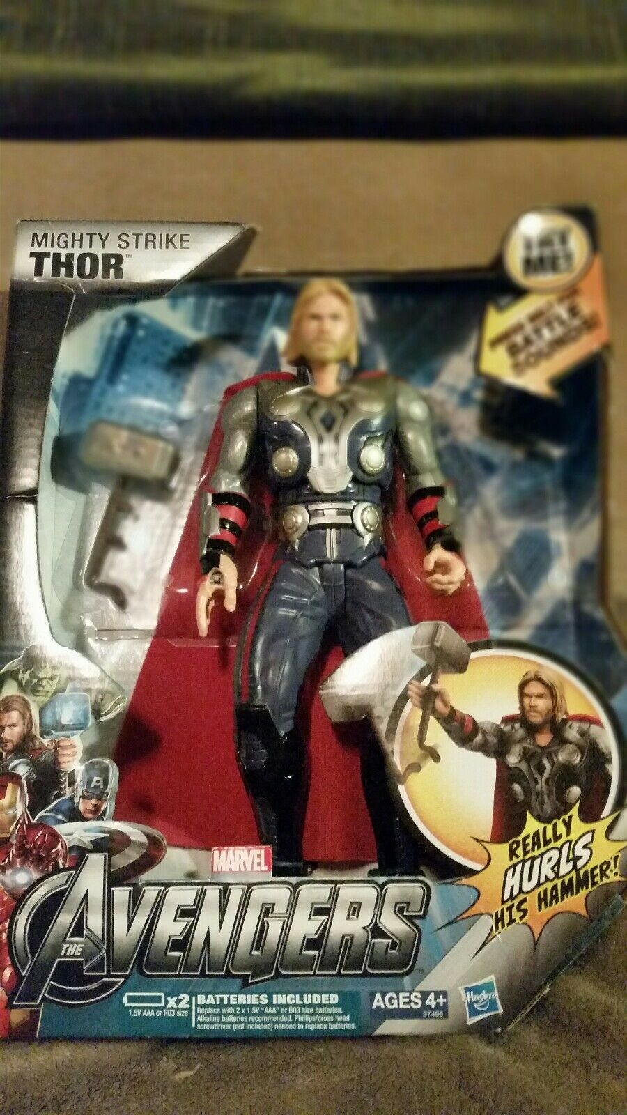 THE MIGHTY STRIKE THOR (REALLY TWIRLS AND THROWS THROWS THROWS HIS HAMMER ) e86034
