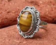 TIGERS EYE RING SIZE P 1/2 US 8 SILVERANDSOUL HANDCRAFTED JEWELLERY 925 SILVER