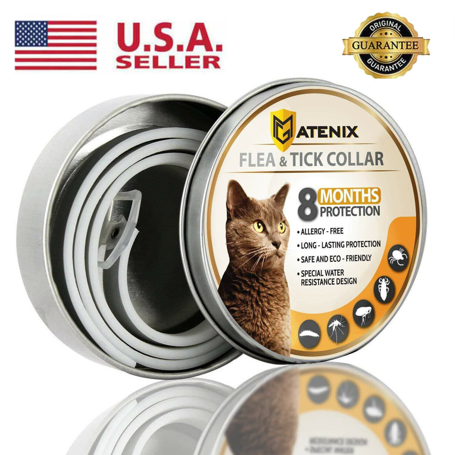 Dewel Flea and Tick Control Collar Anti-insect Mosquitoes fo