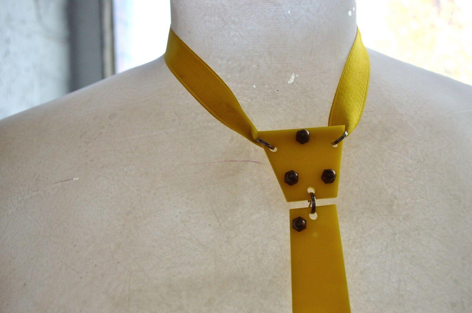 New Wave 80er Krawatte Schlips Kunststoff 80s 80s 80s TRUE VINTAGE Plaste Binder Plastik   Zu einem erschwinglichen Preis  888217