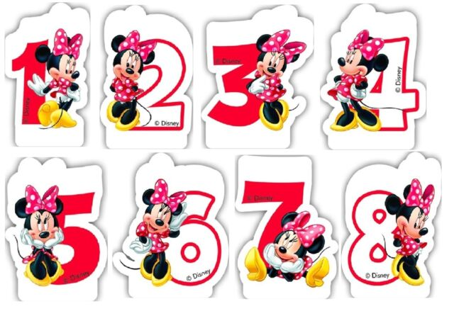Minnie Mouse Cafe Number 7 Candle