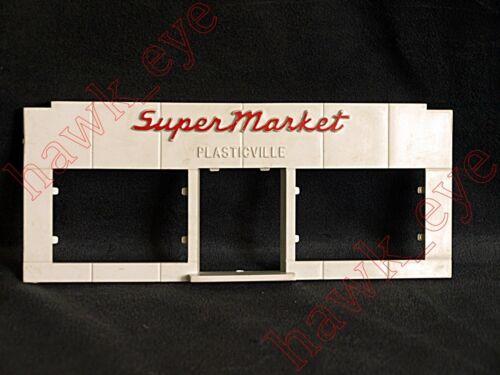 Plasticville Smal Super Market Front Piece White//Red O-S Scale