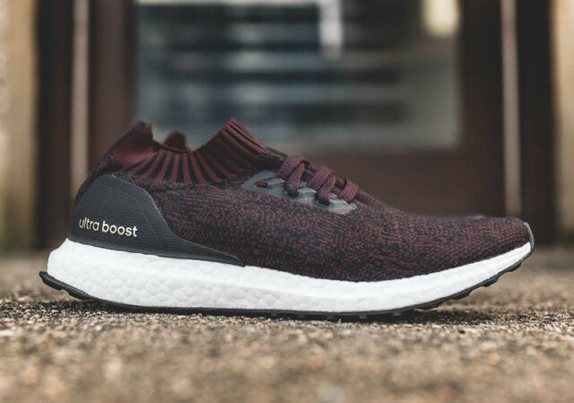 8bd3593036f Adidas Ultra Boost Uncaged Burgundy Dark Red Black White PK BY2552 Mens 13  Shoes