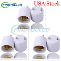 6pcs Gu24 To E27/e26 Led Light Lamp Bulb Adapter Holder Socket Usa Stock