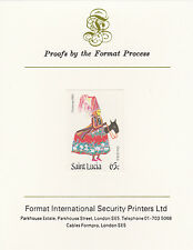 St Lucia 3350 - 1985 Christmas 65c on FORMAT  INTERNATIONAL  PROOF  CARD