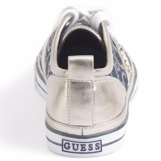 GUESS Briar Blau-Multi Logo Logo Logo Fabric Fashion Sneakers Schuhes d6e4cb