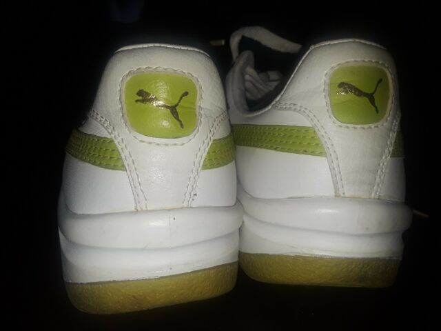 watch f6112 57fb8 PUMA GV Special White and Lime Green Size W8