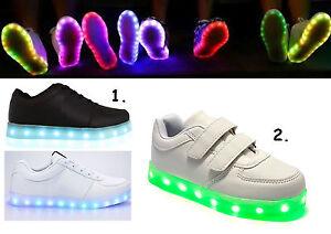 KIDS-INFANTS-LIGHT-UP-LED-LUMINOUS-LACE-UP-TRAINERS-CELEB-SNEAKERS-SHOES-SIZE